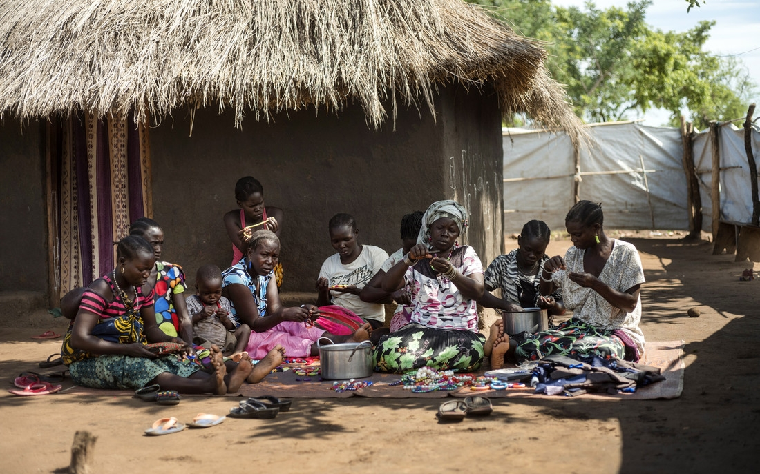 The group gives women the opportunity to make money and a safe space to share their experiences. Photo: Kieran Doherty/Oxfam